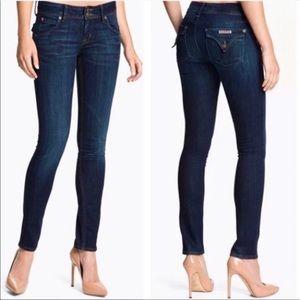 Hudson Collin Flap Pocket Skinny Jeans Mid Rise 26